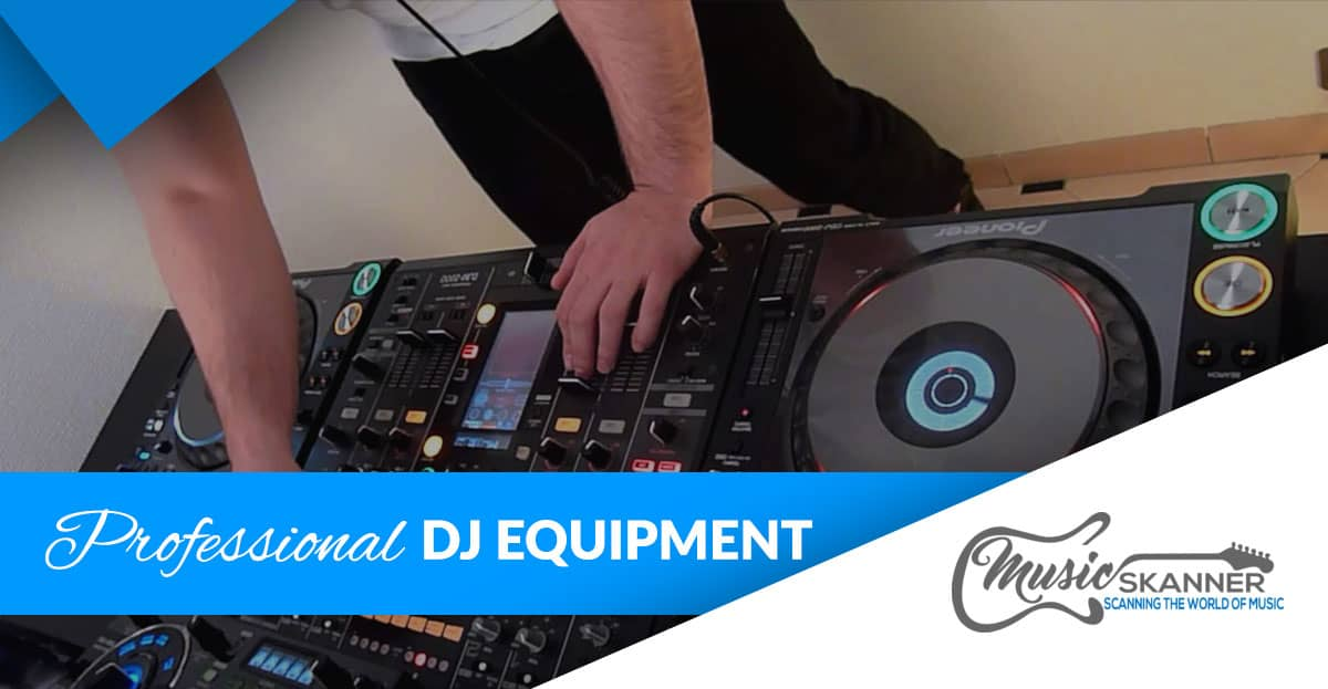Professional DJ equipment