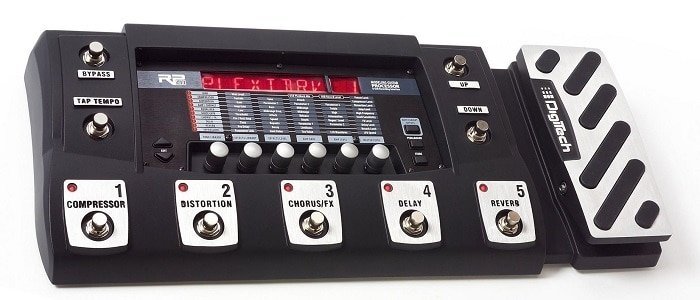 The layout: an expression pedal to the far right of the unit that allows you to control anyone of numerous effects.