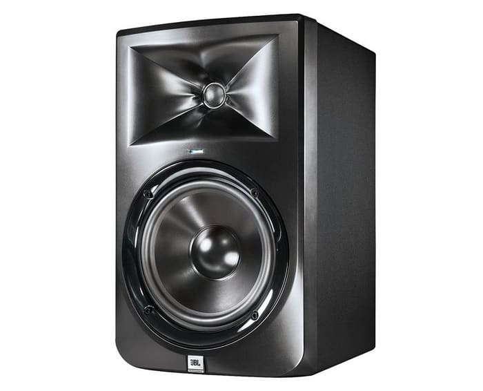 The 308 offers a standard two-way configuration with an 8-inch woofer and a 1-inch soft dome HF tweeter.