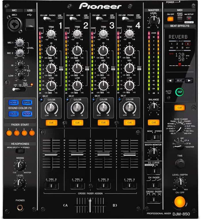 The hardware effects that come with DJM 850 really make this mixer shine.
