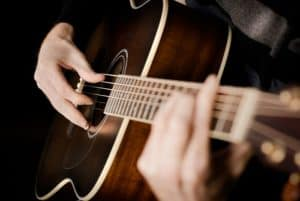Finger picking styles on acoustic guitar