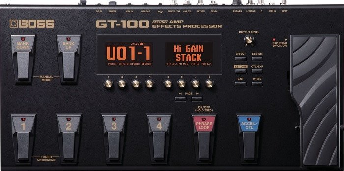 Gt100 amp effects processor