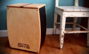 The Cajon drum, unusual percussion instrument