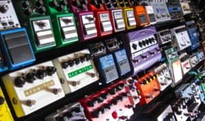 Different guitar pedals