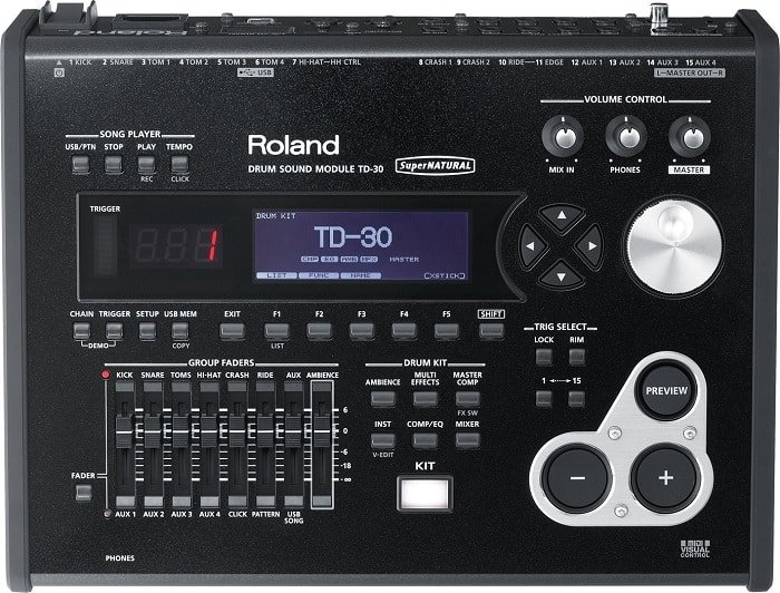 TD-30 module features a number of effects