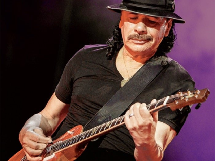 what guitar does carlos santana play tools of the legends. Black Bedroom Furniture Sets. Home Design Ideas