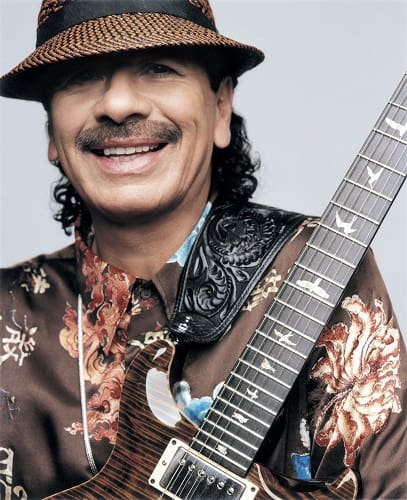 Santana and his guitar
