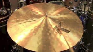 24 ride cymbal that is the largest size you can get.