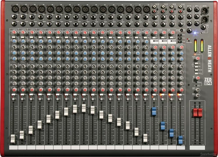 With ZED-24, you can feed 23 separate sources to the mixer, and have 10 outputs.