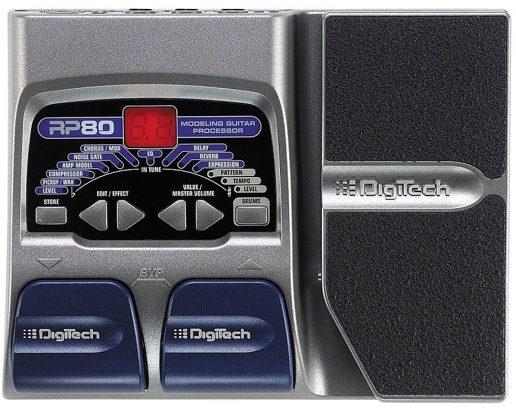 The case of this unit is dominated by a large expression pedal