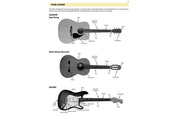 Type of guitars overview