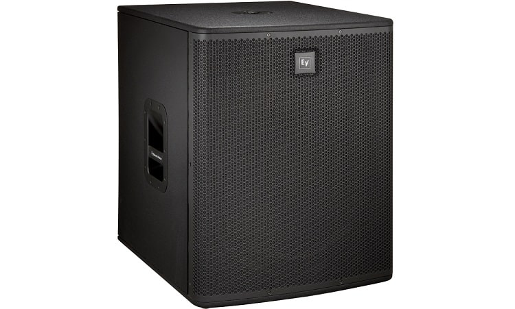 The overall design is pretty simple and practical. Handles are installed on both sides of this subwoofer
