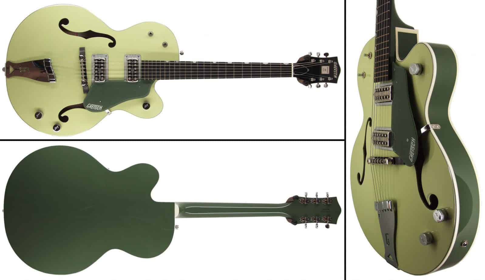 3 different view of the guitar