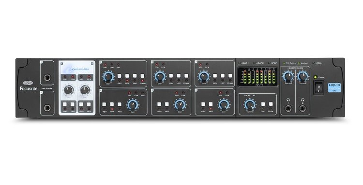 Liquid Saffire 56 comes with eight sets of inputs.