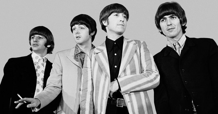 old beatles whole group image